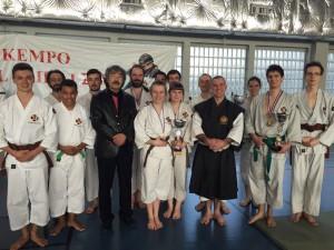 L'équipe de Cholet avec Maître AOSAKA Senseï
